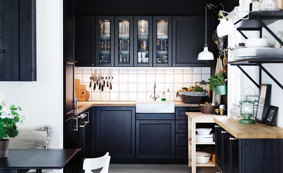 Ikea's Laxarby Kitchen doors and drawer fronts with Metod cabinets