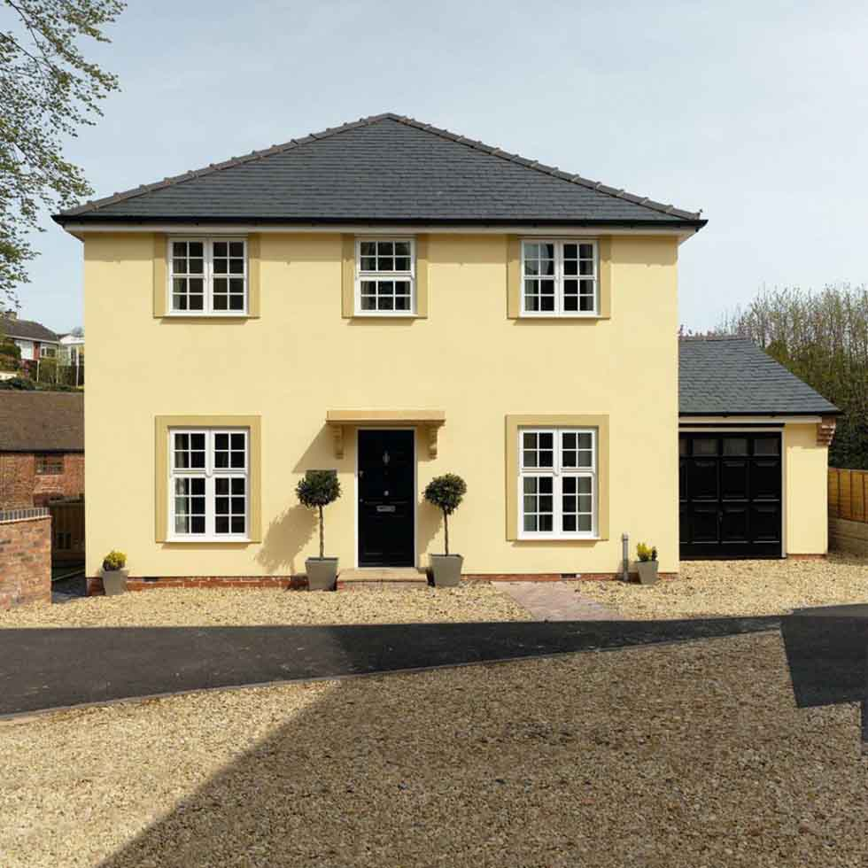 This traditional style self build proves that it is possible to build a house on a budget