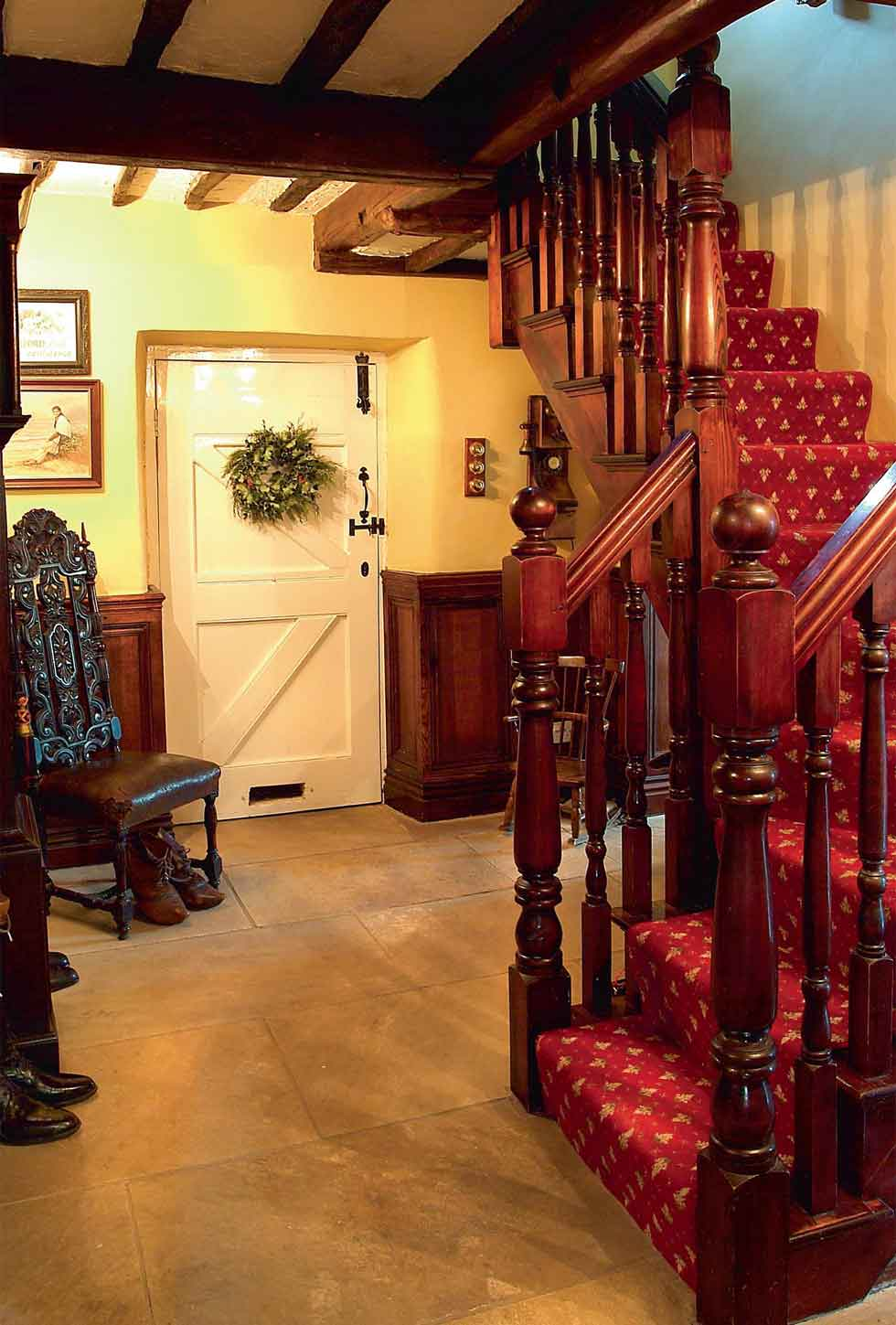 The hall and staircase