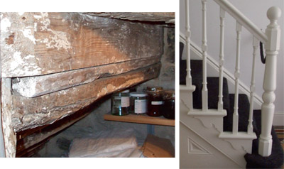 Crude Staircase Construction Used In Old Cottages