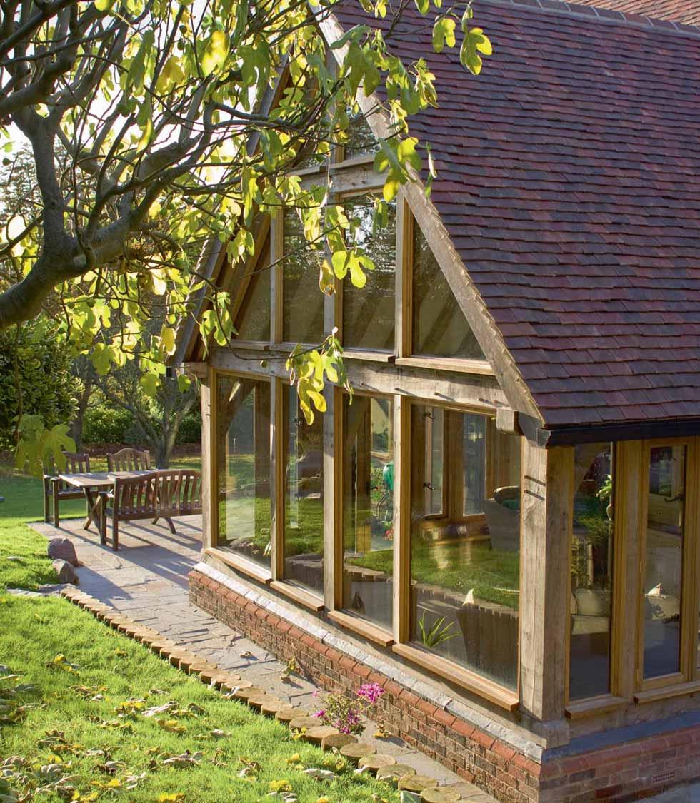 The oak frame sunroom