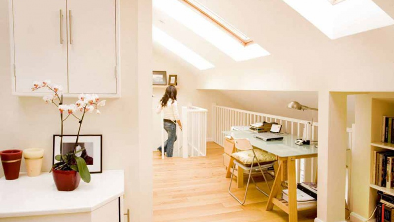 light filled loft conversion with rooms and landing space office
