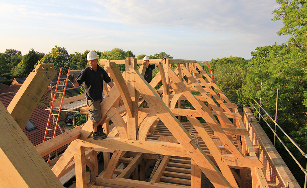 oakwrights timber frame roof trusses