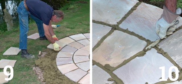 A nominal joint of 10mm on most paving is recommended; Once the paving is laid, leave the mortar to set and do not use the area for at least 24 hours