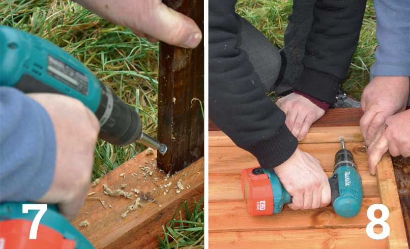 Use a gravel board at the foot of the panel to stop the end grain touching the ground and absorbing moisture; Attach the panel to a post on both sides