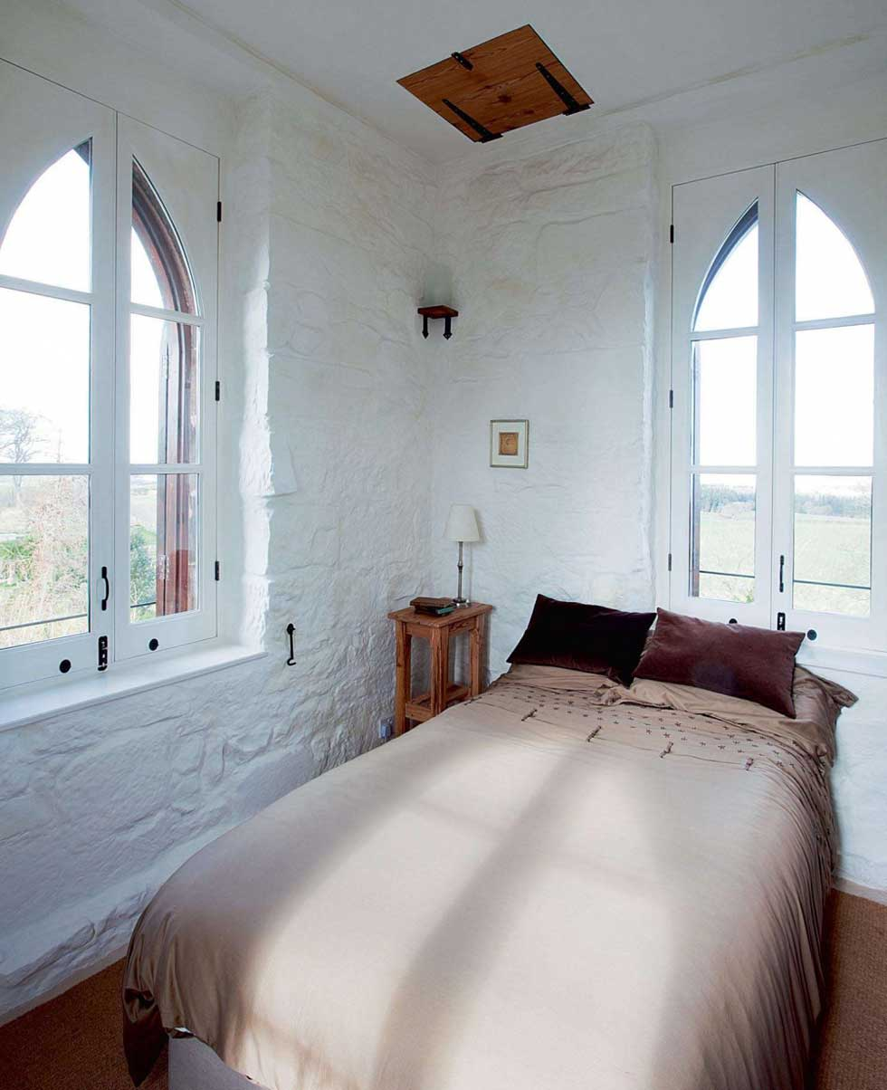 Top floor tower bedroom