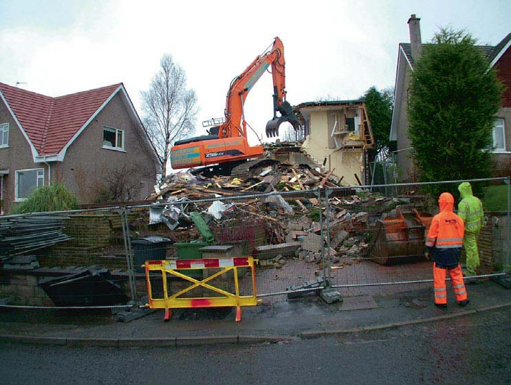 Demolishing the bungalow
