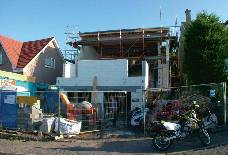 Building the new house using ICF