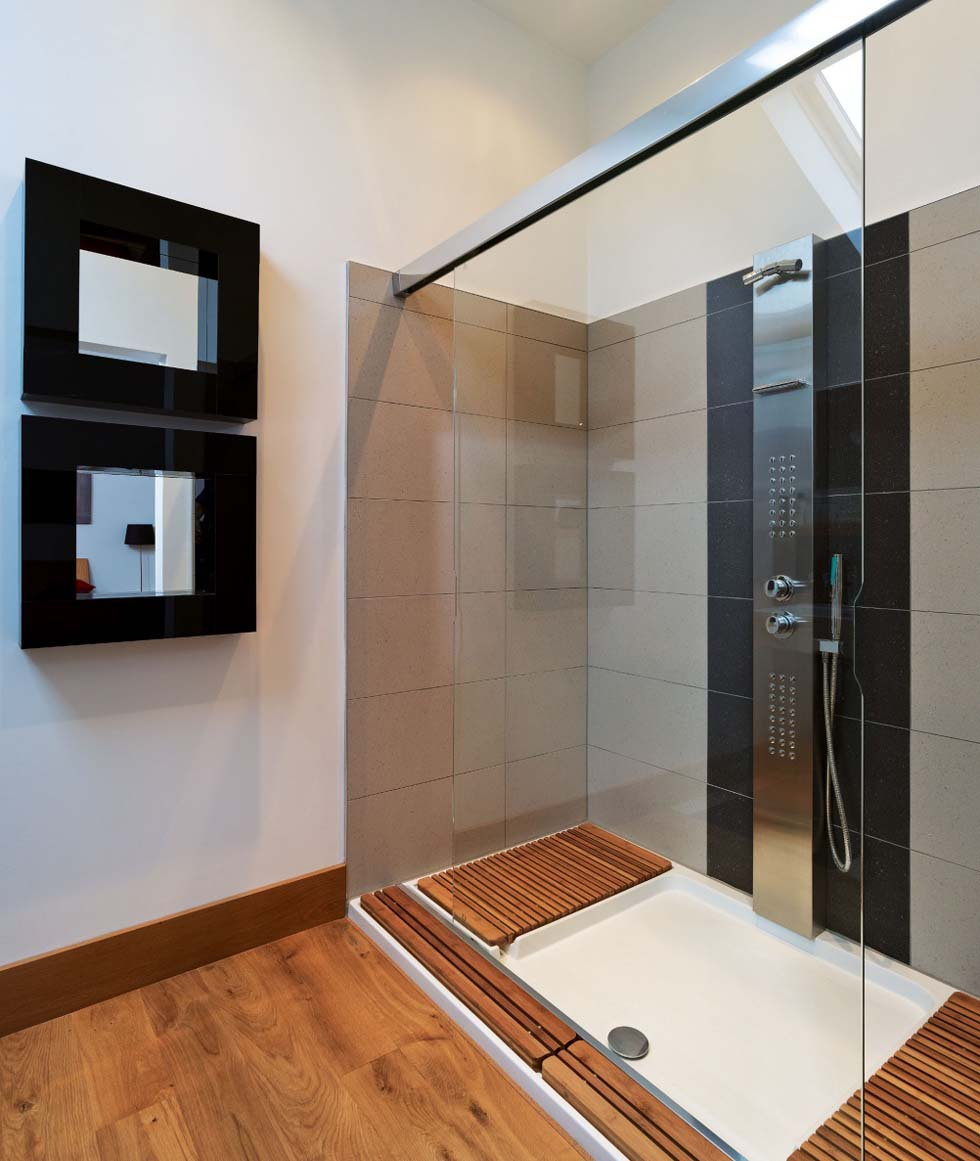 Murray barn conversion shower