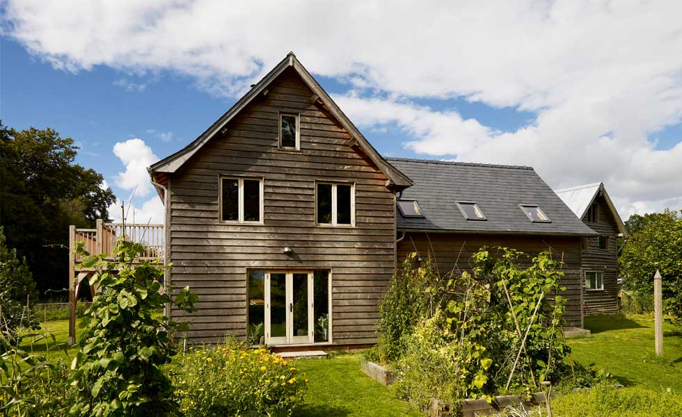 Timber Clad DIY Eco Home