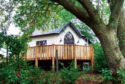 A self-built tree house