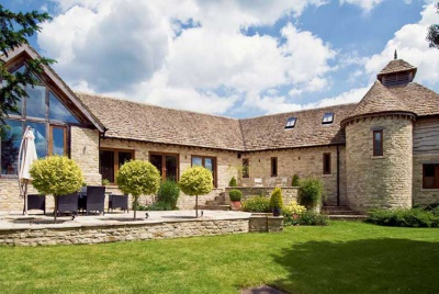 A Cotswold stone barn-style self build