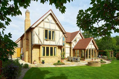 An oak frame country house