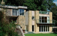 A Frank Lloyd-Wright inspired self build