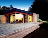 The house sits on raised decking