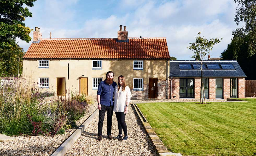 In this project, three listed buildings have been combined and extended to create one beautiful family home