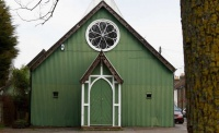 Exterior shot of a tin chapel conversion in Faversham
