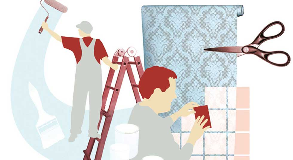 Painting and decorating illustration