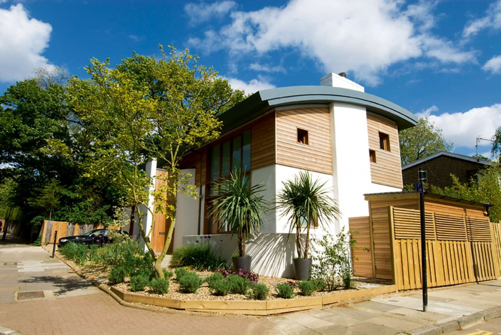 Photograph of stylish eco home in North London