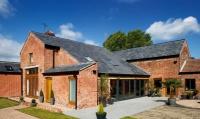 photograph of contemporary barn transformation