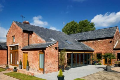 photograph of contemporary barn transformation