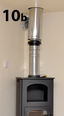 positioning the stove and flue