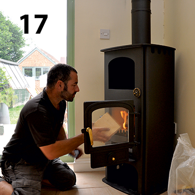 testing the woodburner
