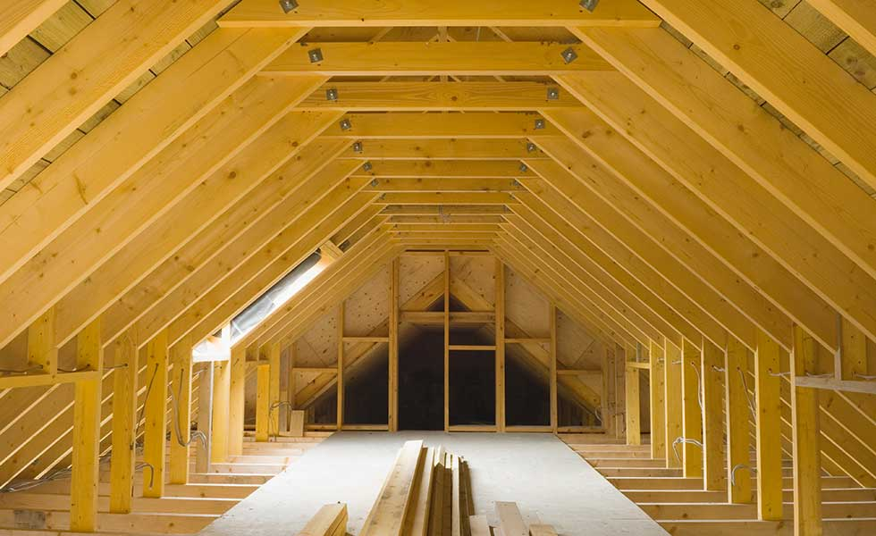 Attic Truss Roof Interior