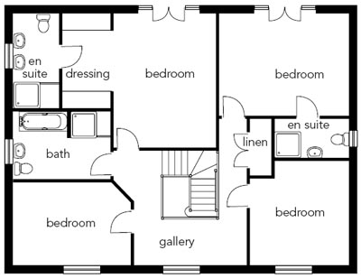 Four Bedrooms On The Smaller First Floor Share Three Bathrooms. Downstairs,  The Living Spaces Flow Easily Onto One Another, With An Open Plan Family  Kitchen ...