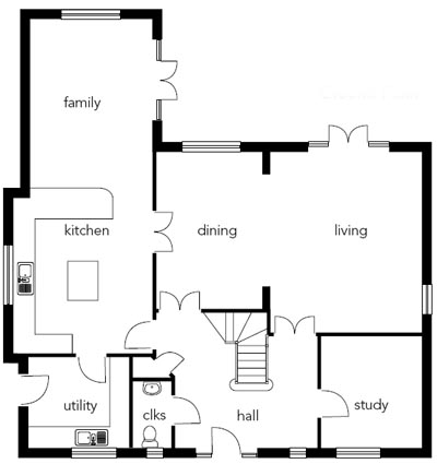 electrics cost guide homebuilding & renovating 2-way light switch wiring diagram downstairs, the living spaces flow easily onto one another, with an open plan family kitchen being the hub of home life