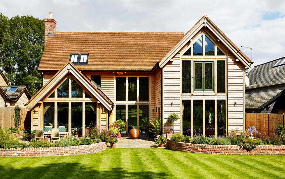 Oak frame self build home on the Cambridge/Hertfordshire border