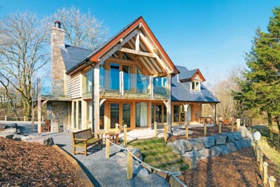 Beautiful oak frame home in Powys