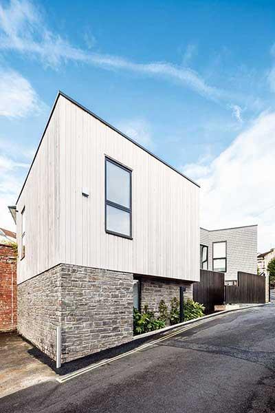 Cedar and stone clad contemporary self-build