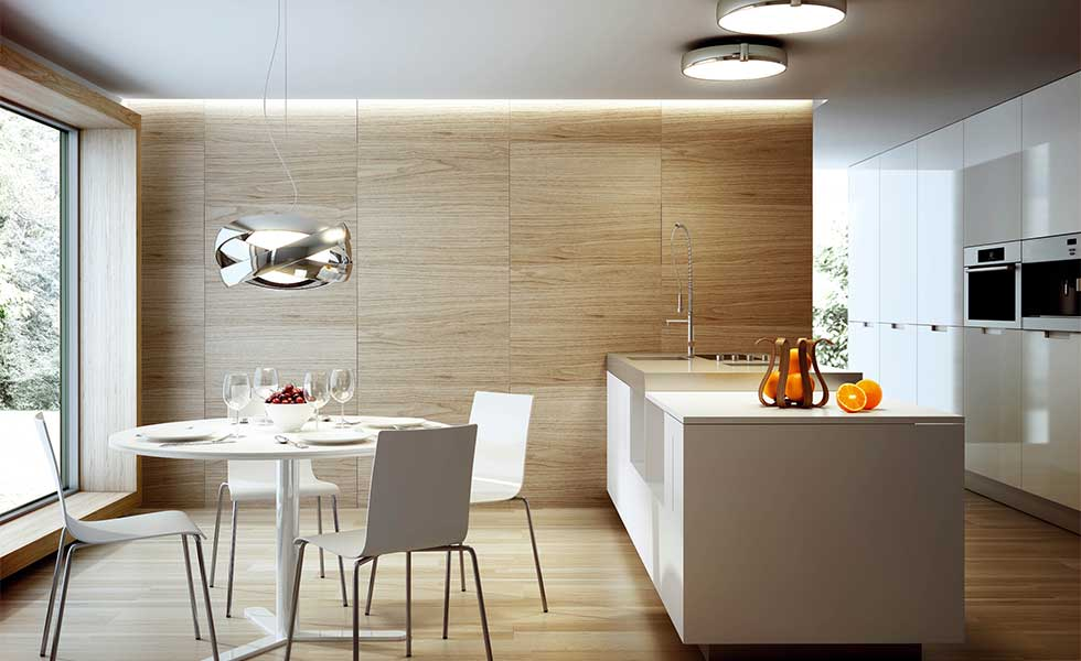 Contemporary kitchen with pendant lighting from Christopher Wray
