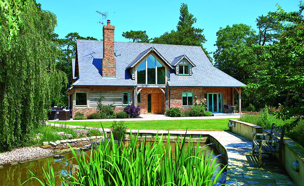 traditional dormer windows in cottage