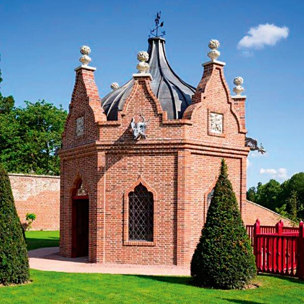 A pavilion garden building by York Handmade Brick Company