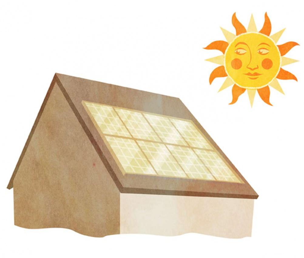 Illustration of solar PV