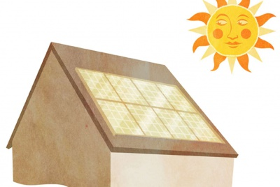 Illustration of solar PV