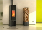 T-swing woodburning stove