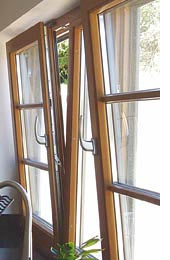tilt and turn casement window in timber