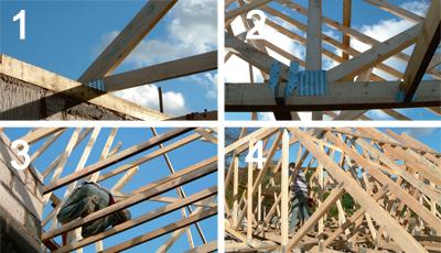 Fink Truss Roof Construction