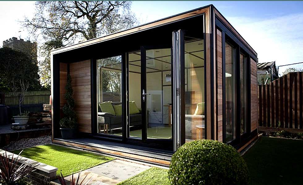 How to add a garden office homebuilding renovating for Outdoor home office buildings