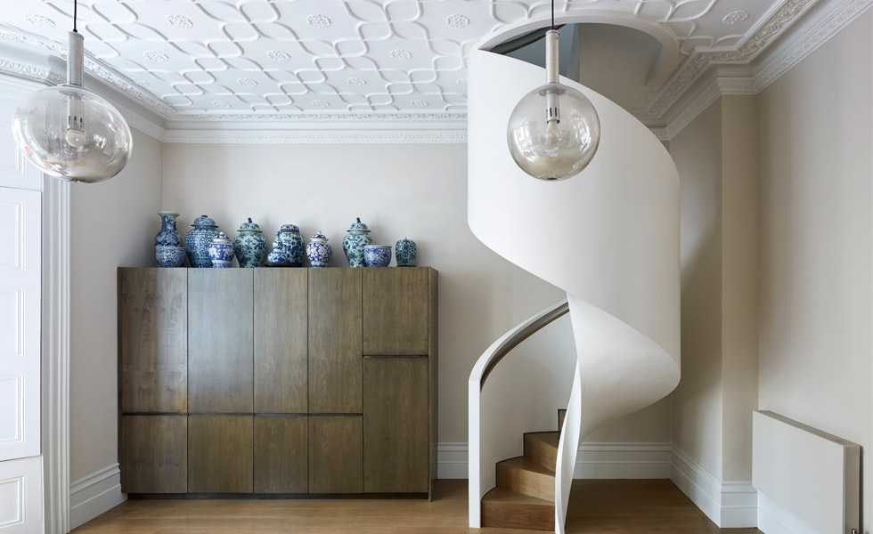 This Helical Staircase From Bisca Is Designed To Save Space And Is A Great  Alternative To A Spiral Staircase. The Slim Staircase Features Oak Treads  And ...