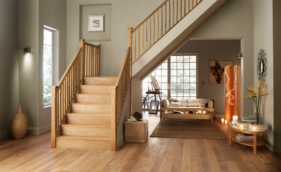Wooden staircase designs for homes awesome home for Website that allows you to design a room