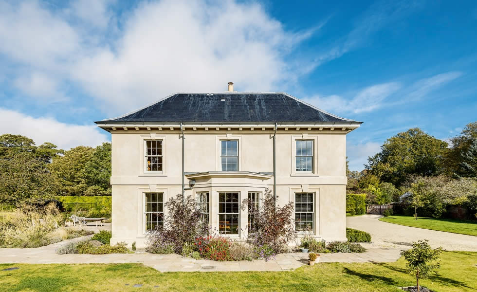 period style house with sash windows