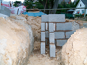 dig trenches and lay foundations