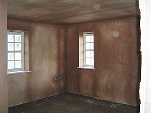 a freshly plastered room drying out