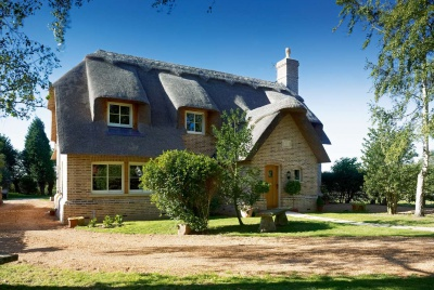 A self build thatched cottage