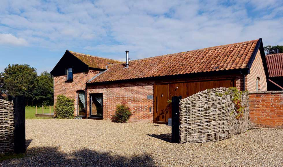red brick barn conversion