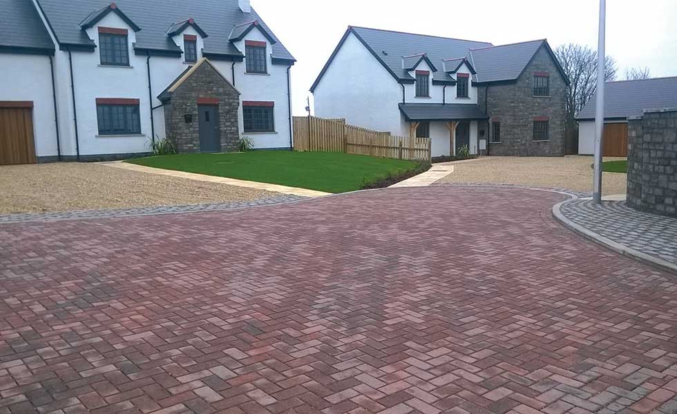 permeable block paving from Forterra including grass paving and self binding gravel